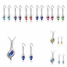 1 Set HOT Necklace Austrian Fashion Combination Crystal Hot NEW Earrings 2016