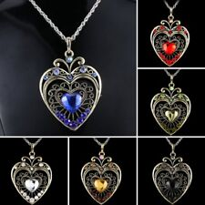Crystal Love Heart Pendant Necklace Sweater Chain Jewelry Mother's Day Gift New