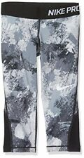 Nike Girls' Pro Chalkdust Printed Capris Stealth/Blk/Wht