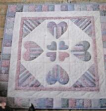 "1989 Four Corners HEARTS CHOICE 23.5""x 23.5"" Wall Hanging Quilt Pattern"