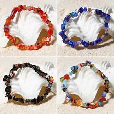 Women Fashion Charm Colorful Lampwork Glass Stretch Bracelet Bangle Jewelry Gift