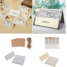 25x Vintage Paper Blank Place Name Card Rustic Wedding Table Card Party Supplies