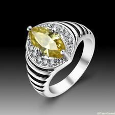 Vintage Beautiful Jewelry Citrine 925 Sterling Silver Gemstone Ring size 7 8 9