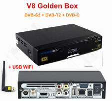 FHD 1080P V8 Golden DVB-S2/T2/C HD Satellite TV Receiver Support powerVu,Bisskey