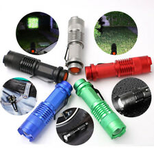 8000lm Cree Q5 LED Rechargeable Flashlight Torch Zoom Tactical AA/14500 Lamp