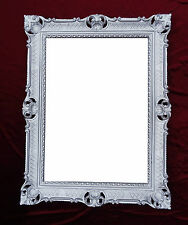 Wall Mirror Antique Baroque Rococo Rectangular 90x70 Deco REPRO Silver