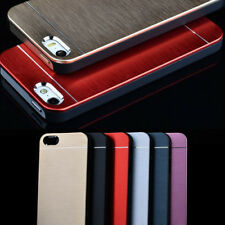 Luxury Metal Aluminum Brushed PC Back Case Cover For iPhone 4 4S 5 5S Surprise