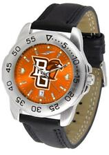 Bowling Green State Falcons Men's Leather Band Sports Watch