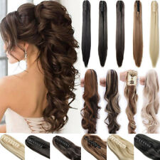 us Thick Clip in Claw Ponytail Hair Extensions Long New Pony As Human Hair AP5