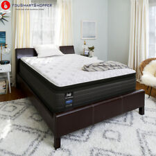 "Sealy Response Performance 13.5"" Plush Euro Pillowtop Mattress and Low..."