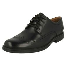 Mens Clarks Formal Wing Tip Brogue Leather Lace Up Shoes - Un Aldric Wing