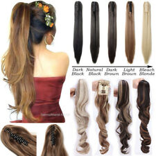 US Shades Claw Clip on Ponytail Real Thick Pony Tail Clip in Hair Extensions KT7