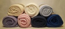 Organic Cotton Waffle Thermal Stadium Dorm Throw Toddler Blanket 31x50 NEW USA