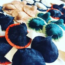 Feather bird trims, 3264 Vintage NOS millinery hat supplies 1920s Germany