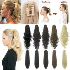 Natural Long Straight Curly Claw On Ponytail Hair Extensions Extension NEW P41