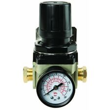 Central Pneumatic 125 PSI 3/8 1/2 in. NPT Air Flow Regulator with Dial Gauge