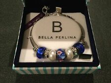 Bella Perlina Ladies Fashion Jewellery Charm Bracelet silver and coloured charms