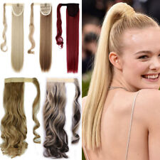 100% Natural Lady Ponytail Clip in Hair Wrap Around Hair Extensions as Human AR