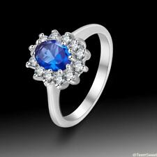 Wedding Jewelry White Topaz & Sapphire Quartz 925 Sterling Silver Ring size 789