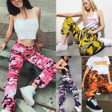 Women Sports Camo Cargo Pants  Casual Camouflage Trousers Jeans