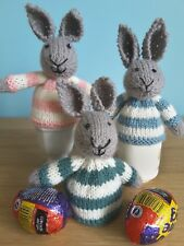 Hand knitted Easter bunny/rabbit egg cosy/cover