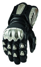 Icon Mens TiMax Long Gauntlet Leather Gloves with Titanium Knuckles