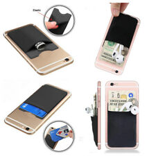Universal Cell Phone Pocket Stick On Wallet Card Holder Elastic Adhesive Lycra