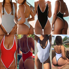 Sexy Womens Monokini Strappy Push Up Padded Bikini One Piece Swimwear Swimsuit