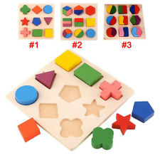 Kids Baby Wooden Learning Geometry Educational Puzzle Jigsaw Puzzle Montessori