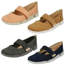 Ladies Clarks Trigenic Sporty Casual Flat Mary Jane Style Shoe - Tri Carrie