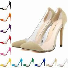 WOMENS LADIES HIGH STILETTO HEEL POINTED COURT Bridal SHOES SIZE Macarons 302-27