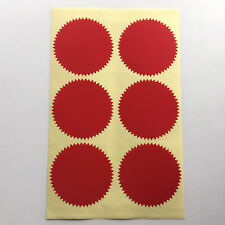 Notary & Certificate Seal Embosser Label Embossing Sticker - 2 inch -RED Glossy