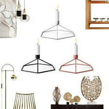 3D Geometric Candle Holders Tall Taper Candle Candlestick Metal Iron Frame Stand