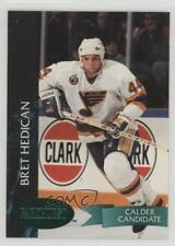 1992 Parkhurst Emerald Ice #385 Bret Hedican St. Louis Blues Rookie Hockey Card