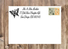Personalized Butterfly Monarch Self-Inking Laser Rubber Return Address Stamp