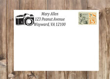 Personalized Camera Photographer Self-Inking Laser Rubber Return Address Stamp