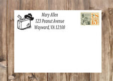 Personalized Travel Suitcase Self-Inking Laser Rubber Return Address Stamp