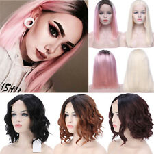Natural Wave Synthetic Lace Front Wig Long Pink Wavy Full Women'S Hair Wigs Gr4