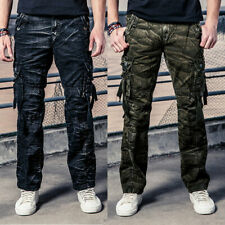 NEW MENS ARMY MILITARY CARGO PANTS SIZE 30 32 34 36 38 39 STRAIGHT LEG 8 POCKETS