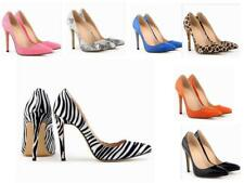 WOMENS LADIES HIGH HEEL WEDDING BRIDAL PARTY PROM STILETTO PATTERN COURT SHOES