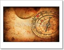 Navigation Compass On Grunge Old Paper Texture - 1