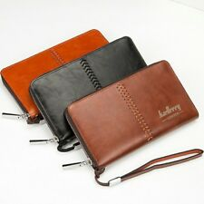 Mens Clutch Purse PU Leather Long Wallet Bag ID Credit Card Holder Billfold :L.,