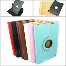 360Degree Rotate PU Leather Case Cover skin Swivel Stand for Apple iPad mini LOT