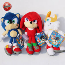 9''23cm Sonic The Hedgehog Sonic Tails Knuckles the Echidna Soft Plush Toy Dolls