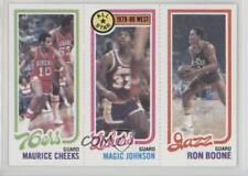 1980 Topps #MCMJRB Maurice Cheeks Magic Johnson Ron Boone Los Angeles Lakers RC