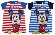 Boys Baby Short Romper Disney Mickey Mouse Stripe Playsuit 6 to 24 Months