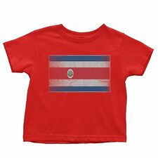 Nyc Factory Costa Rica Flag Tee Infant T-Shirt Baby Vintage Retro I costa-rica-