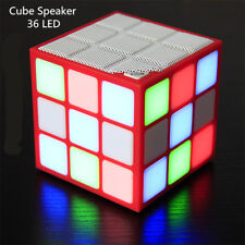 Bluetooth Speakers Wireless Sound Box Colorful 3D LED Flashing Light Cube Louder