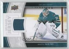 2013 Upper Deck Series Two UD Game Jersey GJ-AN Antti Niemi San Jose Sharks Card