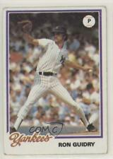 1978 Topps Burger King Restaurant New York Yankees #4 Ron Guidry Baseball Card